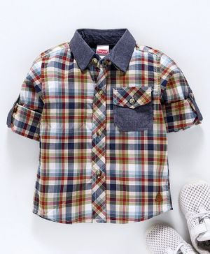 Babyhug Full Sleeves Check Shirt - Multicolour