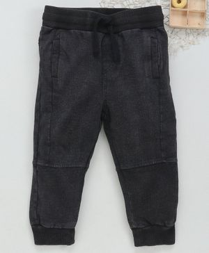 Fox Baby Full Length Joggers With Drawstring - Black