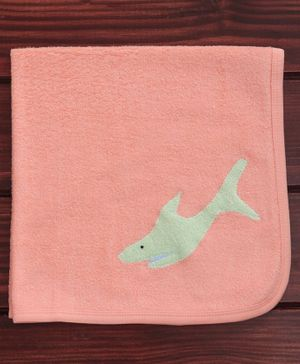 Child World Hand And Face Towel - Green Fish