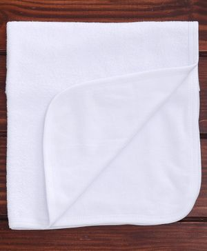 Child World Hand & Face Towel - White