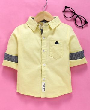 Lekeer Kids Full Sleeves Solid Shirt - Yellow