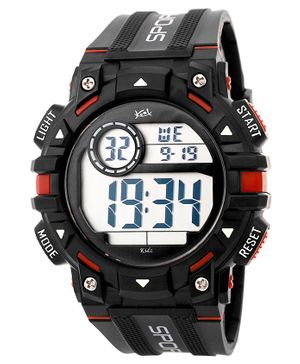 Kool Kidz Digital Watch - Black Red