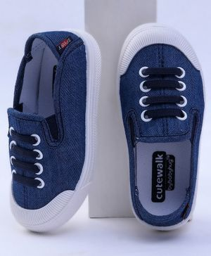 Cute Walk by Babyhug Canvas Shoes - Navy Blue