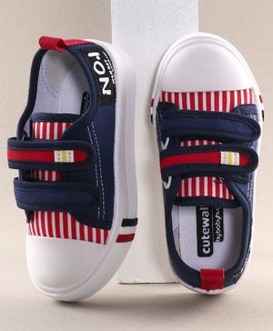 Cute Walk by Babyhug Casual Shoes Striped Pattern - Red