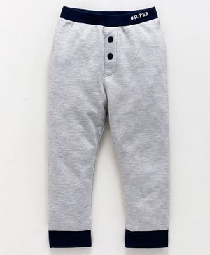 Babyoye Full Length Cotton Legging Super Print - Grey