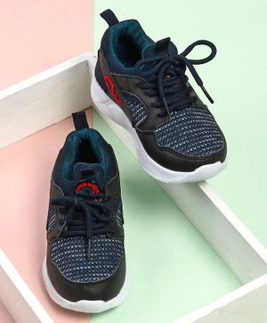 Cute Walk by Babyhug Lace Up Sports Shoes - Navy