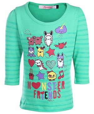 Sportking Full Sleeves Top - Monster Friends Print