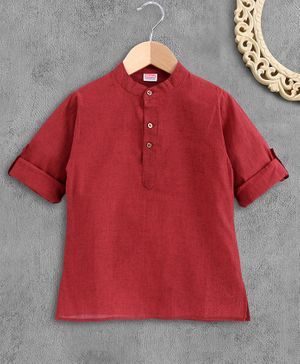 Babyhug Full Sleeves Kurta - Maroon