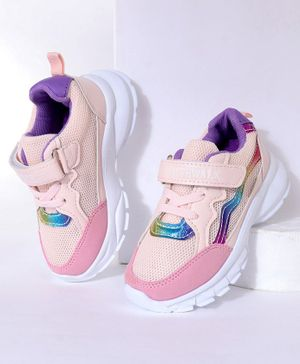 Cute Walk by Babyhug Sports Shoes - Light Pink