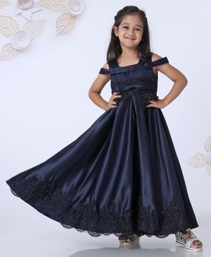 Mark & Mia Party Wear Embellished Gown - Navy Blue