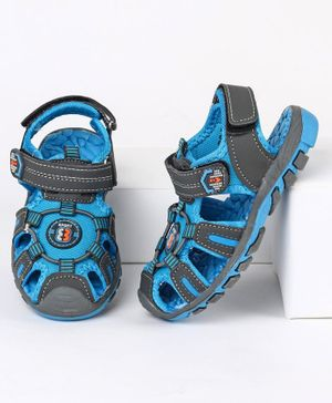 Cute Walk by Babyhug Sandals With Dual Velcro Closure - Blue Black