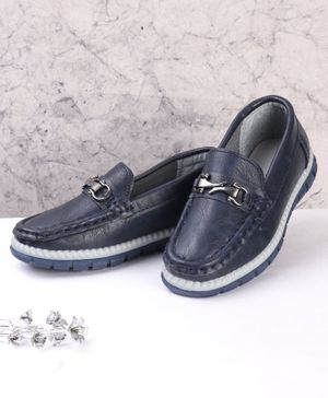 Cute Walk by Babyhug Party Wear Loafers - Dark Blue