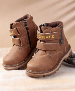 Cute Walk by Babyhug Party Wear Boots - Brown