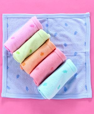 Zero Hand & Face Towels Pack of 6 - Multicolour