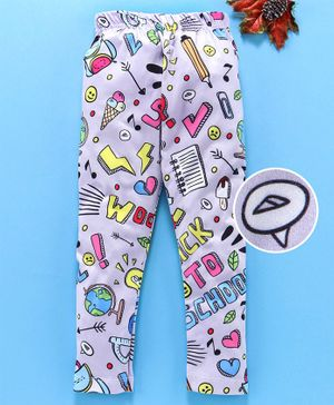 Birthday Girl Full Length Leggings Multiprint - Light Grey