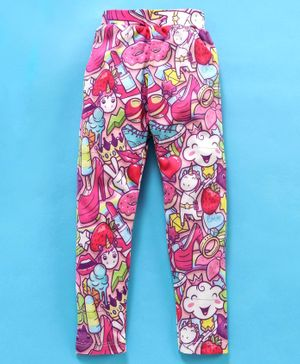 Birthday Girl Full Length Leggings Multiprint - Pink
