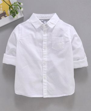 OVS Solid Full Sleeves Shirt - White