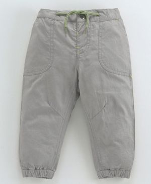 Babyoye Full Length Cotton Trouser With Drawstring - Grey