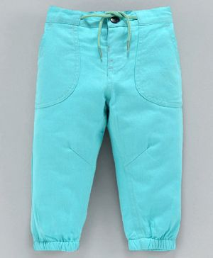 Babyoye Full Length Cotton Trouser With Drawstring - Teal