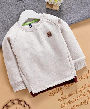 Play by Little Kangaroos Full Sleeves Sweatshirt - Grey