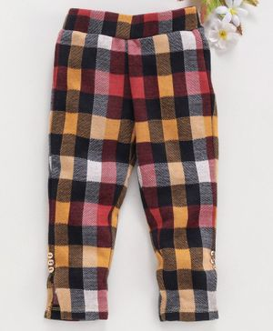 Vitamins Full Length Trouser Checked - Yellow Red