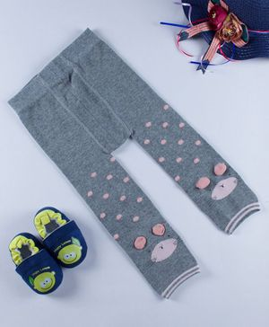 Kidofash Bunny Pattern Stockings - Grey
