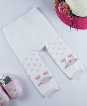 Kidofash Bunny Pattern Stockings - White