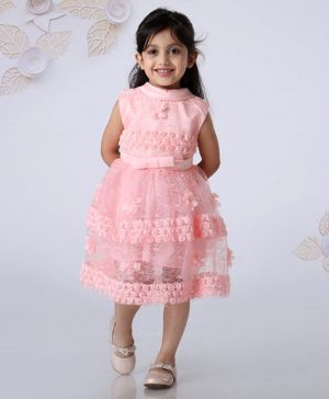 Mark & Mia Sleeveless Frock Floral Applique - Pink