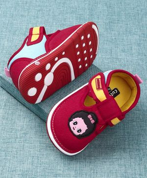 Cute Walk by Babyhug Canvas Shoes Doll Patch - Red