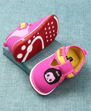 Cute Walk by Babyhug Canvas Shoes Doll Patch - Pink