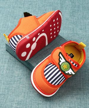 Cute Walk by Babyhug Canvas Shoes - Orange