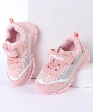 Cute Walk by Babyhug Sports Shoes - Peach
