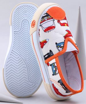 Cute Walk by Babyhug Printed Casual Shoes - Orange