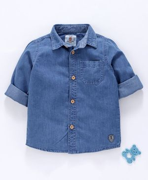 Bodycare Full Sleeves Denim Shirt - Blue
