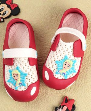 Disney Frozen Clogs With Back Strap - Red Cream
