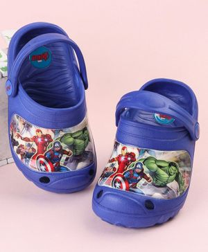 Marvel Avengers Clogs With Back Strap - Blue