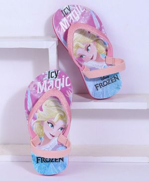 Disney Frozen Flip Flops With Back Strap - Pink