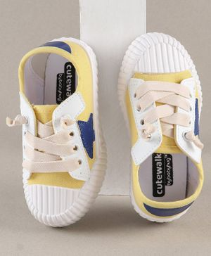 Cute Walk by Babyhug Canvas Shoes - Yellow