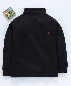 Smarty Full Sleeves Tee S Patch - Black