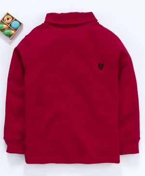 Smarty Full Sleeves Tee S Patch - Maroon
