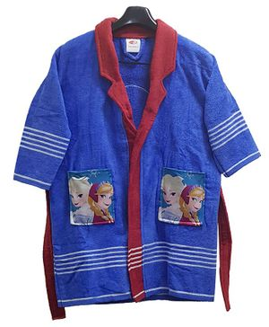 Disney Frozen Print Baby Bathrobe - Blue