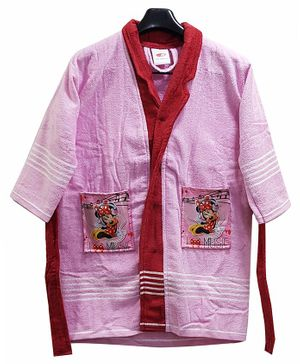 Disney Minnie Print Baby Bathrobe - Pink