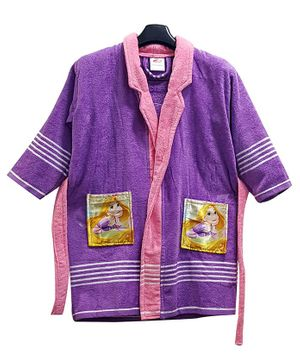 Disney Princess Print Baby Bathrobe - Purple