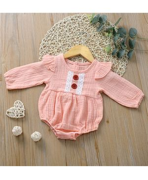 Kookie Kids Full Sleeves Onesie Solid Colour - Peach