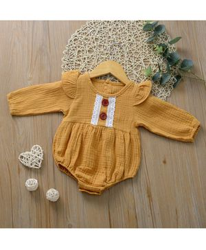 Kookie Kids Full Sleeves Onesie Solid Colour - Mustard Yellow