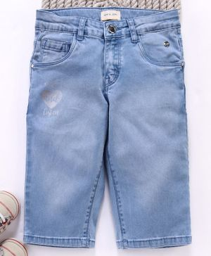 Gini & Jony Three Fourth Jeans - Blue