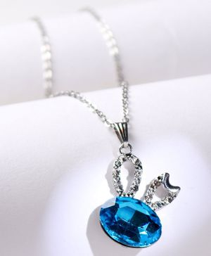 Babyhug Chain Necklace with Gemstone - Blue