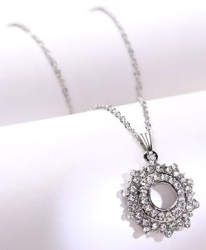 Babyhug Chain Necklace With Stones - Silver