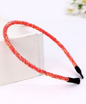 Babyhug Hair Band Sequin Applique - Red