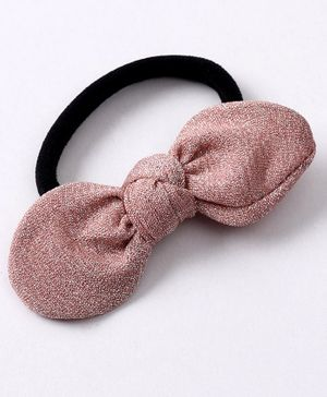 Babyhug Hair Rubber Band Bow Applique - Pink